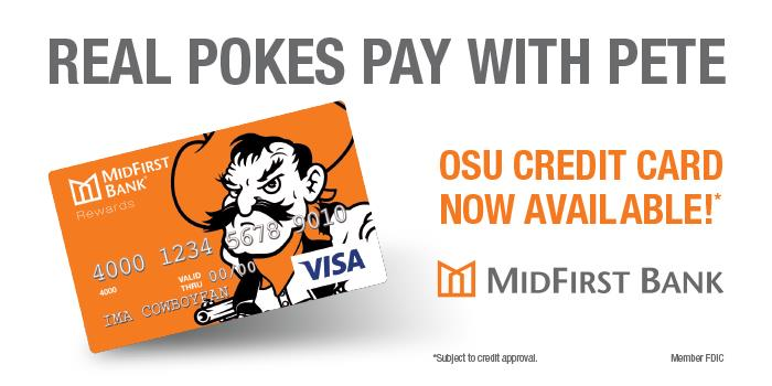 Now Available: MidFirst OSU Credit Card
