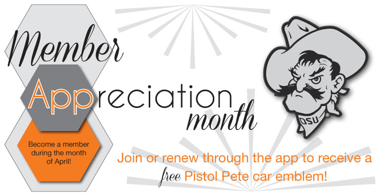 Free Pistol Pete Car Emblem with Membership