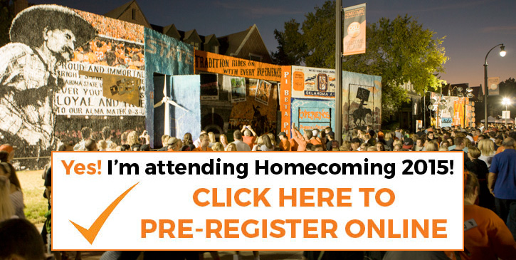 Pre-Register for Homecoming 2015