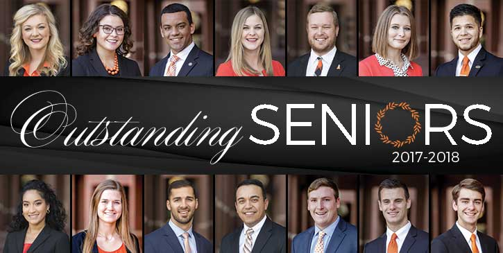 Outstanding Seniors Selected for 2017-18